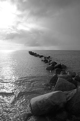 Stein Photograph - Stones In The Sea 5 by Falko Follert