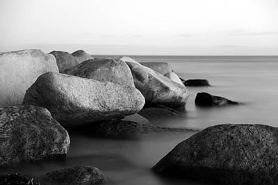 Stein Photograph - Stones In The Sea by Falko Follert