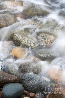 Stones In Water2 Art Print