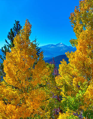 Photograph - Stones Peak Through The Aspens by Harry Strharsky