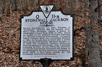 Stonewall Jackson House Art Print by Todd Hostetter