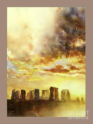 Newton Painting - Stonhenge Ruins In England by Ryan Fox