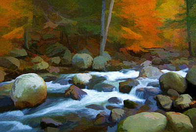 Photograph - Stony Brook Stream by Steve Zimic