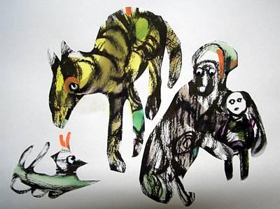 Stop Doggin' Around Art Print by Aquira Kusume
