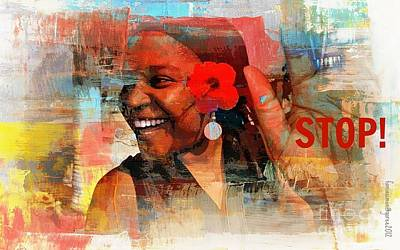 Laughter Mixed Media - Stop by Fania Simon