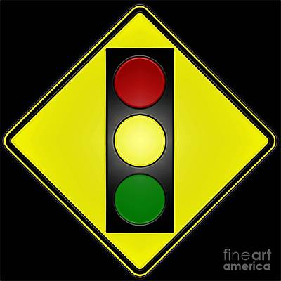 Digital Art - Stop Light by Dale   Ford