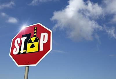 Stop Nuclear Power, Conceptual Artwork Art Print by Detlev Van Ravenswaay