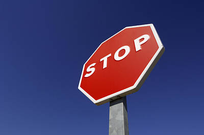 Stop Sign Photograph - 'stop' Road Sign by Martin Ruegner