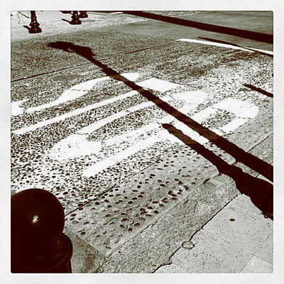 Stop Sign Photograph - Stop Shadow by Gabe Arroyo