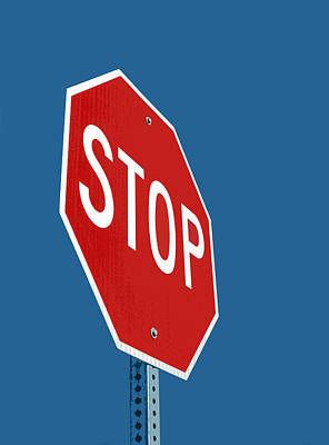 Stop Sign Digital Art - Stop Sign by Glennis Siverson