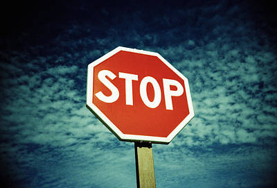 Stop Sign Print by Kevin Curtis