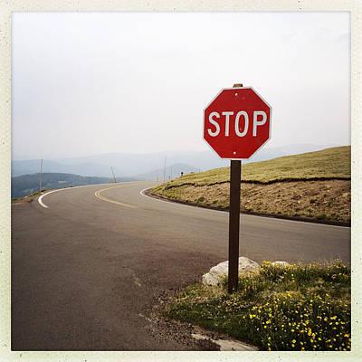 Stop Sign Art Print by ©Natasha Japp Photography