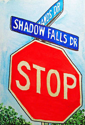 Stop Sign Sketchbook Project Down My Street Art Print by Irina Sztukowski