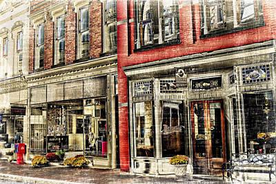 Store Front Downtown Staunton Art Print by Kathy Jennings