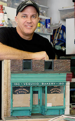 New York In Miniature Sculpture - Storefront Artist - Randy Hage by Randy Hage