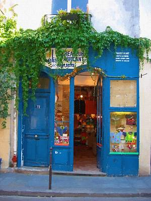 Storefront In Paris France Art Print by Michael Meinberg