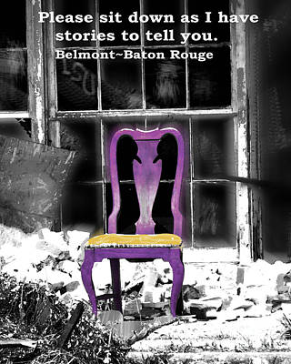 Photograph - Stories  Belmont Baton Rouge by Lizi Beard-Ward