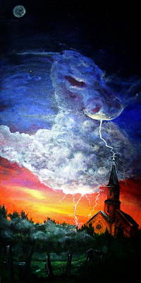 Storm Against Christianity Art Print by Leslie Hoops-Wallace