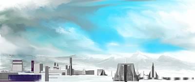 Digital Art - Storm Approachs Strange City by David Lane