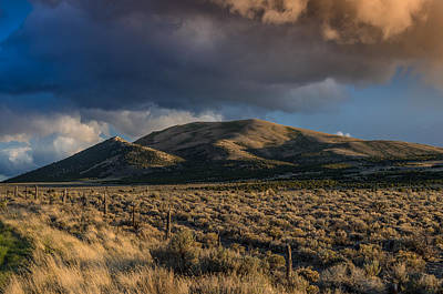 Storm Clearing Over Great Basin Art Print by Greg Nyquist