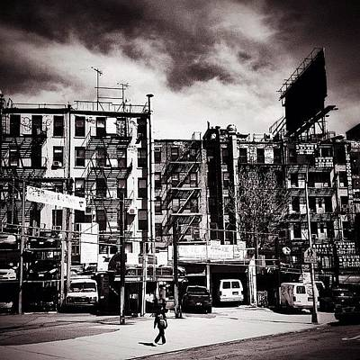City Scenes Photograph - Storm Clouds - Chinatown - New York City by Vivienne Gucwa