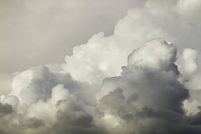 Photograph - Storm Clouds And Thunder Heads Before Rain Storm Fiine Art Print by Keith Webber Jr