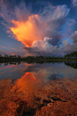 Photograph - Storm Clouds At Dawn by Claudia Domenig