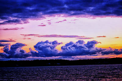 Photograph - Storm Clouds At Sunset by Kelly Reber