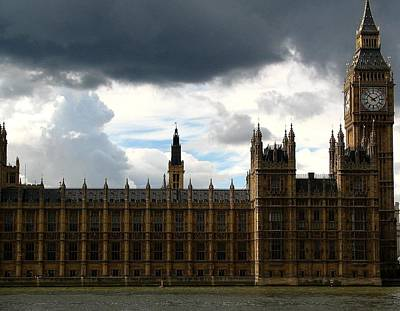 Photograph - Storm Clouds Over Big Ben  by Diane Height