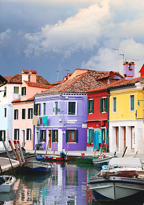 Photograph - Storm Clouds Over Burano by Paul Cowan