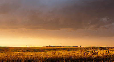 Art Print featuring the photograph Storm Clouds Over Dia by Monte Stevens