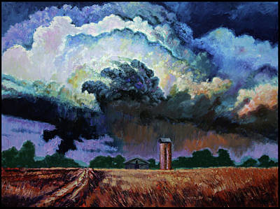 Storm Clouds Painting - Storm Clouds Over Joplin by John Lautermilch