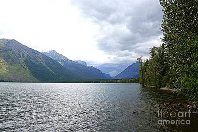 Photograph - Storm Clouds Over Lake Mcdonald by Carol Groenen