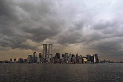 Storm Clouds Over Lower Manhattan Art Print by Medford Taylor