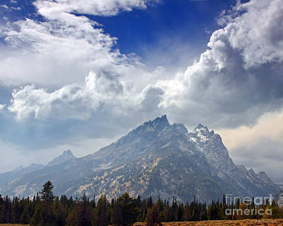 Photograph - Storm Clouds Over The Grand Tetons by Nature Scapes Fine Art