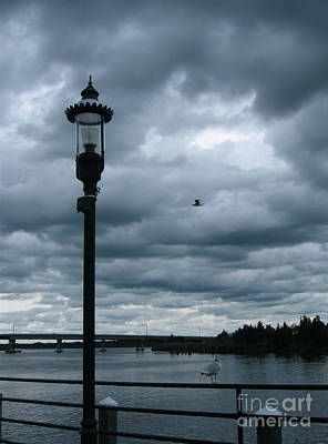 Photograph - Storm Clouds Over The River  by Nancy Patterson