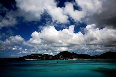 Digital Art - Storm Coming In Over Magen's Bay St. Thomas by Carrie OBrien Sibley
