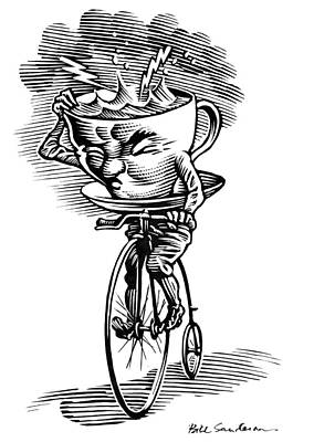 Penny Farthing Photograph - Storm In A Teacup, Conceptual Artwork by Bill Sanderson