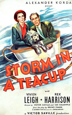 1937 Movies Photograph - Storm In A Teacup, Vivien Leigh, Rex by Everett