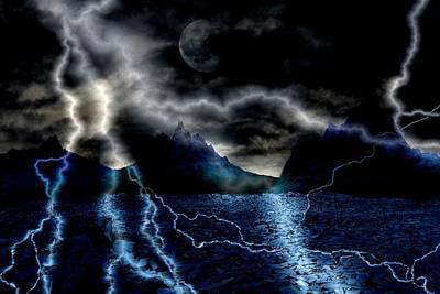Storm In The Blue Mountains Art Print by Angel Jesus De la Fuente