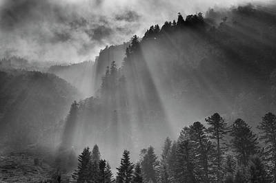 Pyrenees Photograph - Storm Light In High Pyrenees by Paul Whiting