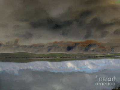 Storm On Land Art Print