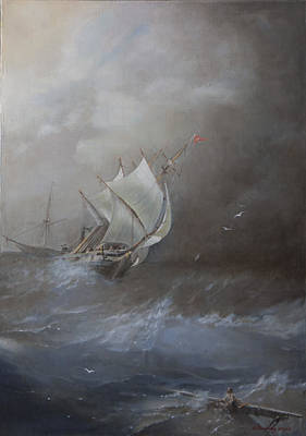 Storm On The Arctic Ocean Art Print by Oleg Gorovoy