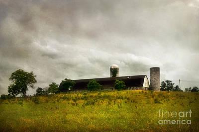 Barn Photograph - Storm Over A Barn by Susan Isakson