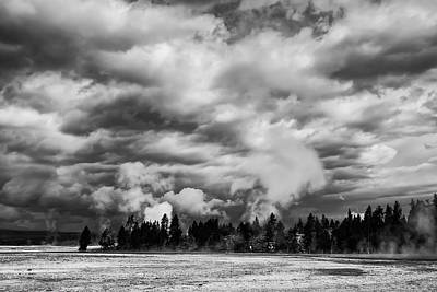 Storm Over Firehole Lake Drive Art Print by Daniel Hagerman