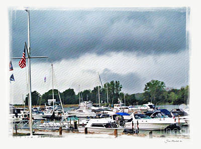 Photograph - Storm Over Lake Erie by Joan  Minchak