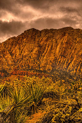 Red Rock Photograph - Storm Over Red Red Rock Canyon by David Patterson