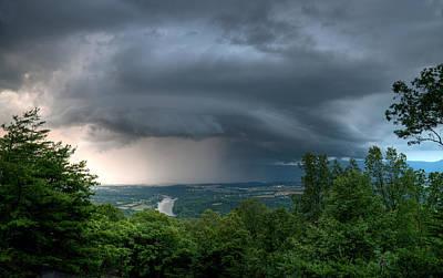 Storm Over Shenandoah Art Print by Lara Ellis
