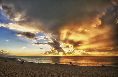 Storm Over Sunset Beach Hawaii Art Print by Verity Milligan