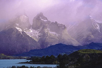 Storm Over Torres Del Paine Patagonia Art Print